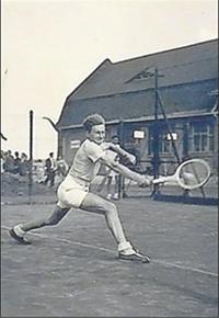Starke Rückhand: Hansjörg Mathieu in den 50er Jahren.