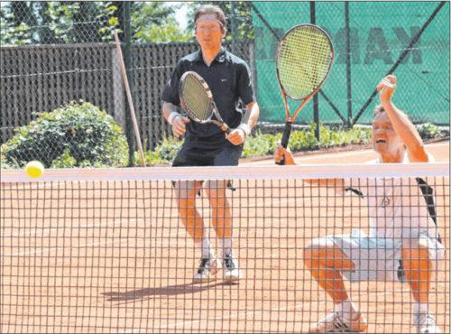 Dirk Schuster vom PTC Grünstadt (rechts), hier mit Gunther Phillippsen