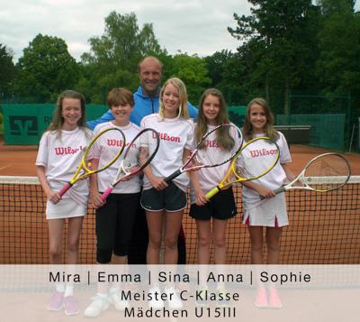 Mira, Emma, Sina, Anna, Sopohie-Meister C-Klasse-Mädchen U15 III