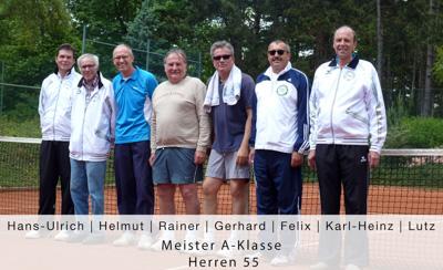 Hans-Ulrich, Helmut, Rainer, Gerhard, Felix, Karl-Heinz, Lutz - Meister A-Klasse - Herren 55