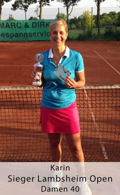 Karin - Sieger Lambsheim Open - Damen 40