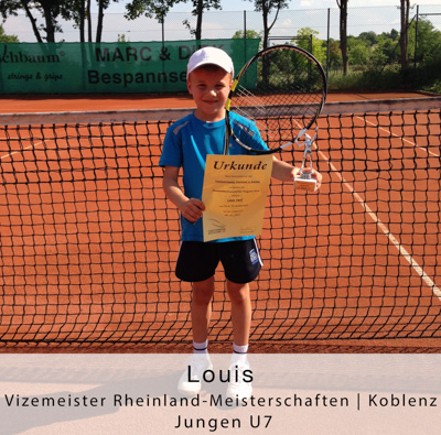 Louis - Vizemeister Rheinland-Meisterschaften - Koblenz - Jungen U7