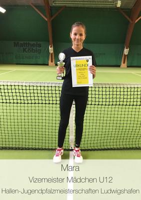 Mara - Vizemeister Mädchen U12 - Hallen-Jugendmeisterschaften Ludwigshafen