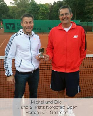 Michael, Eric - 1. und 2. Platz Nordpfalz Open - Herren 50 - Göllheim