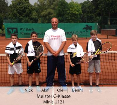 Nick, Akif, Ole, Benni - Meister C-Klasse - Minis U12 I