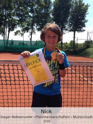 Nick - Sieger Nebenrund - Pfalzmeisterschaften - Mutterstadt - U10