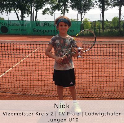 Nick - Vizemeister Kreis 2 - TV Pfalz - Ludwigshafen - Jungen U10