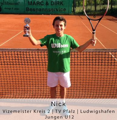 Nick - Vizemeister Kreis 2 - TV Pfalz - Ludwigshafen - Jungen U12