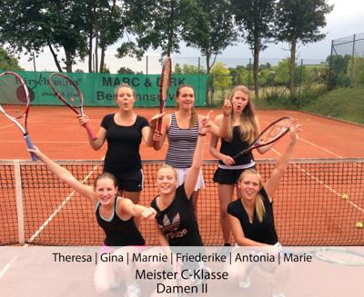 Theresa, Gina, Marnie. Friederike, Antonia, Marie - Meister C-Klasse - Damen II